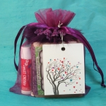Custom Goody Bag-Purple Feather