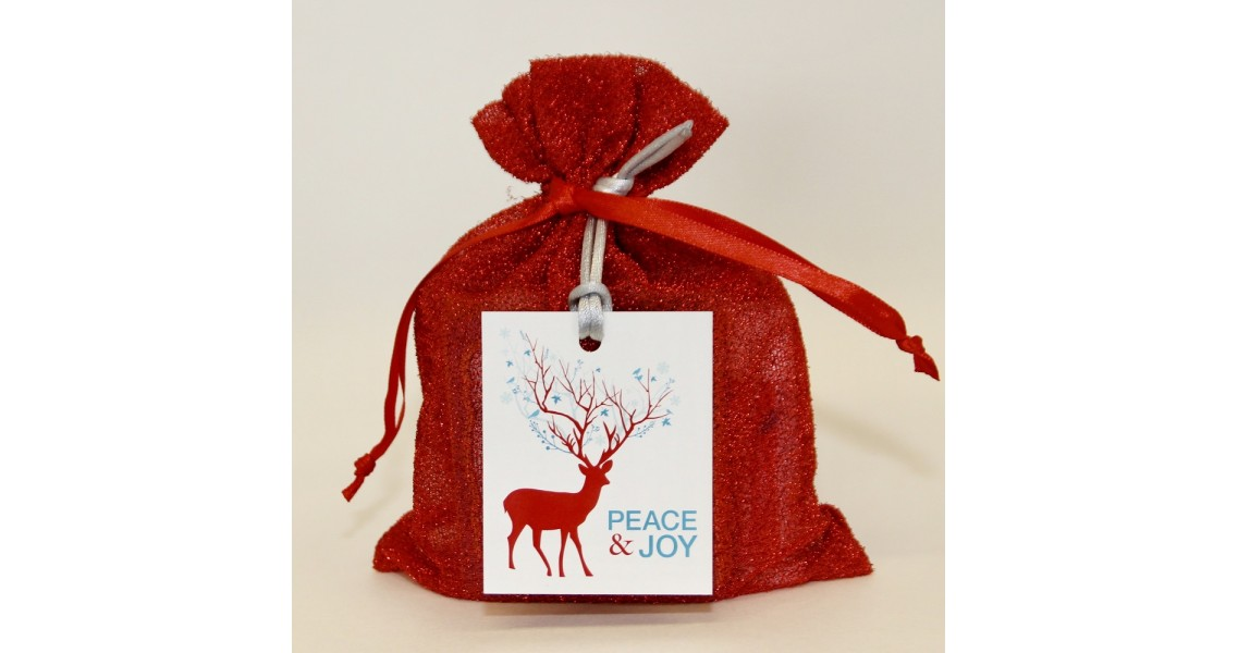Custom Goody Bag - Red w/Deer
