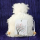Custom Goody Bag - White Fur w/Angel