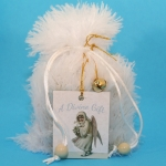 Custom Goody Bag - White Faux Fur