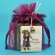 Custom Goody Bag-Purple Faux Feather