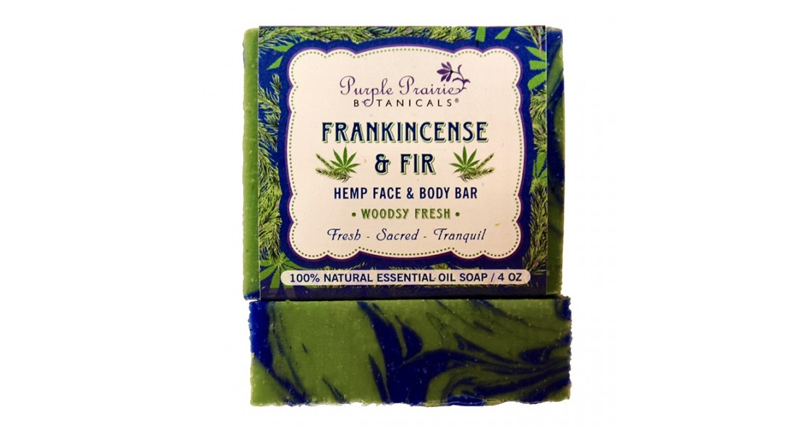 Frankincense & Fir Hemp Face & Body Bar