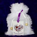 Custom Goody Bag - White Faux Fur